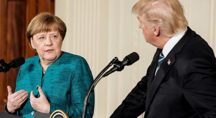 Merkel şi Donald Trump