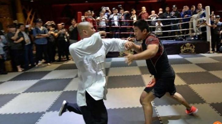 """Un """"bătăuș"""" MMA s-a lăudat că ar învinge un maestru Tai Chi. Lupta s-a terminat șocant în 10 secunde"""