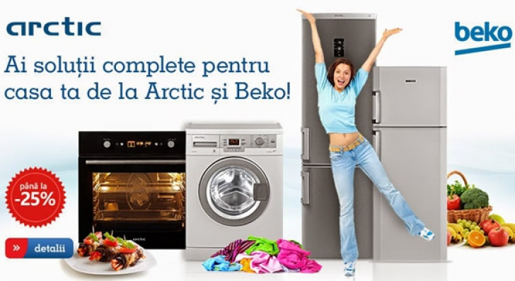 eMAG Saptamana electrocasnicelor - Oferte foarte bune de la Arctic si Beko