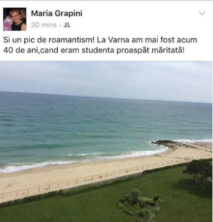 """Maria Grapini, o nouă gafă pe Facebook: """"Şi un pic de """"roamantism"""". Eram studentă proaspăt măritată"""""""