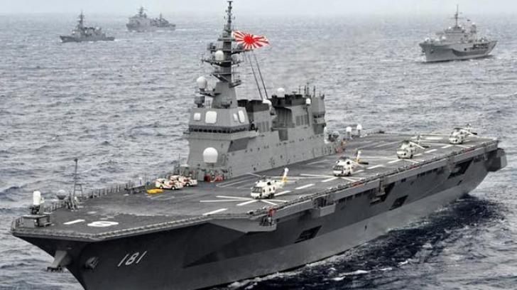 Japonia a trimis cea mai mare navă de război, pentru a escorta un vas american