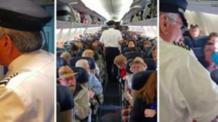 Pilotul avionului a luat microfonul, a făcut un anunţ şocant. Pasagerii au rămas stană de piatră