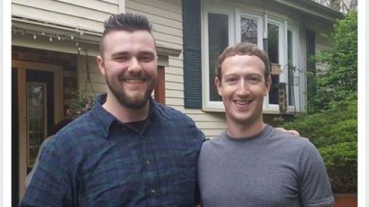 Oameni obişnuiţi l-au primit la masă pe fondatorul Facebook