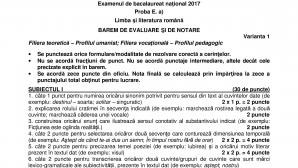 BAREM ROMANA BAC 2017 uman