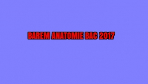 BAREM ANATOMIE BAC 2017
