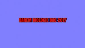 BAREM BIOLOGIE BAC 2017