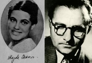 Magda Isanos, alături de soțul său Eusebiu Camilar