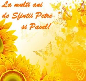 Mesaje pentru petru si pavel urari si felicitari 2017