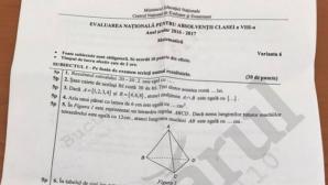 IATĂ subiectele laMatematică 2017 - Evaluare Naţională 2017!