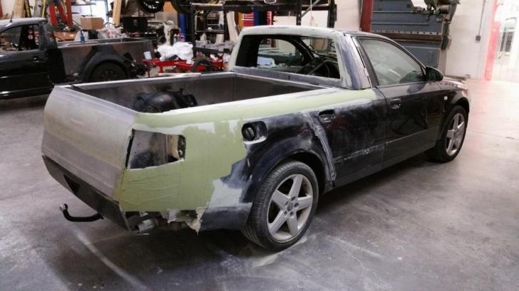 Şi-a bătut joc de o frumuseţe de Audi S4. L-a tăiat în bucăţi şi l-a transformat într-un Audi papuc