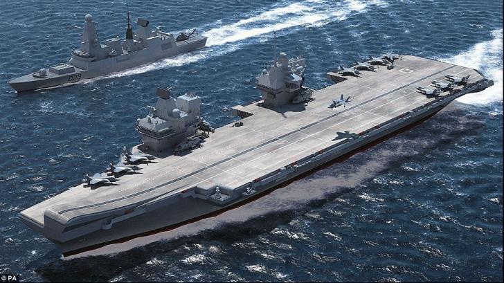 """Rusia IRONIZEAZĂ un nou portavion al Marii Britanii, avertizând că este o """"ŢINTĂ navală uşoară"""""""