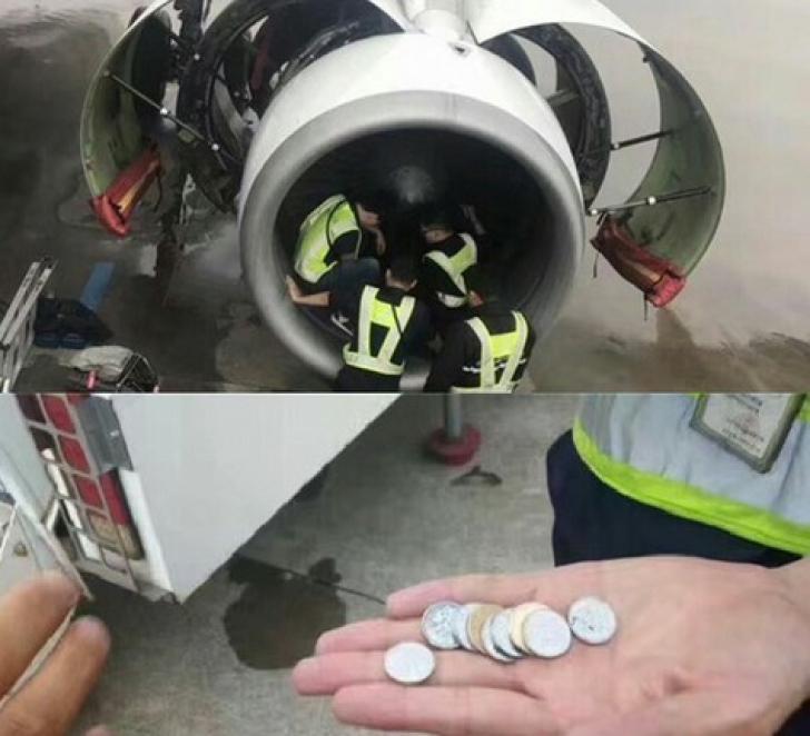 Avionul cu monede