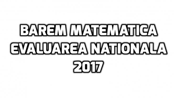 Barem matematica Evaluare Nationala 2017 – Unde puteti vedea rezolvarile subiectelor
