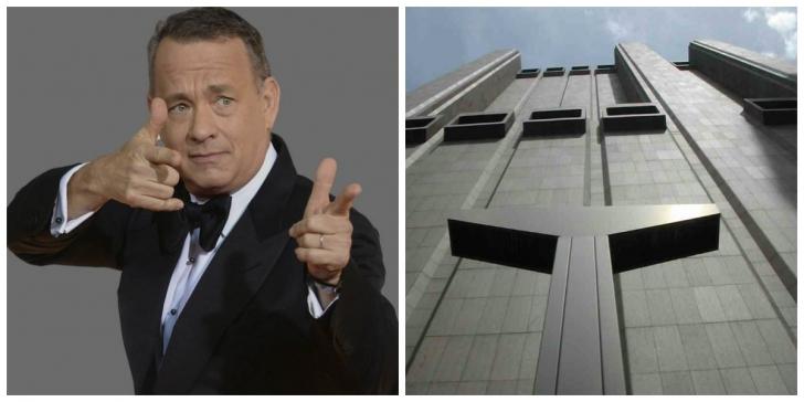 """Tom Hanks a postat o poză HORROR: clădire de 29 etaje, fără nicio fereastră, a """"răsărit"""" în New York"""
