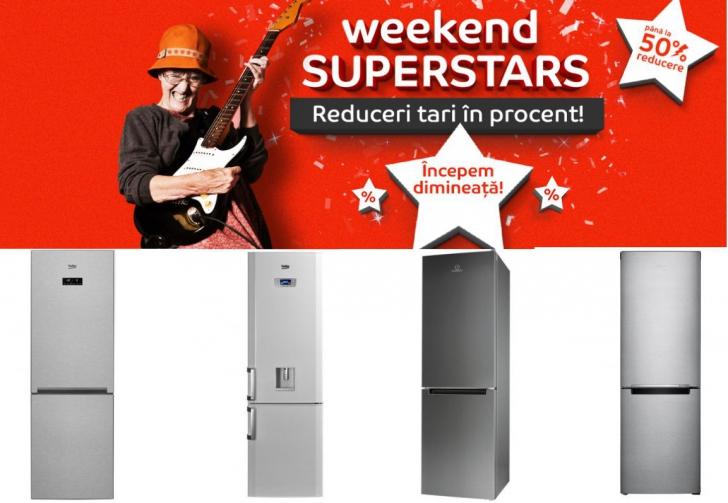 Reduceri eMAG Weekend Superstars. Oferte șoc și la combine frigorifice