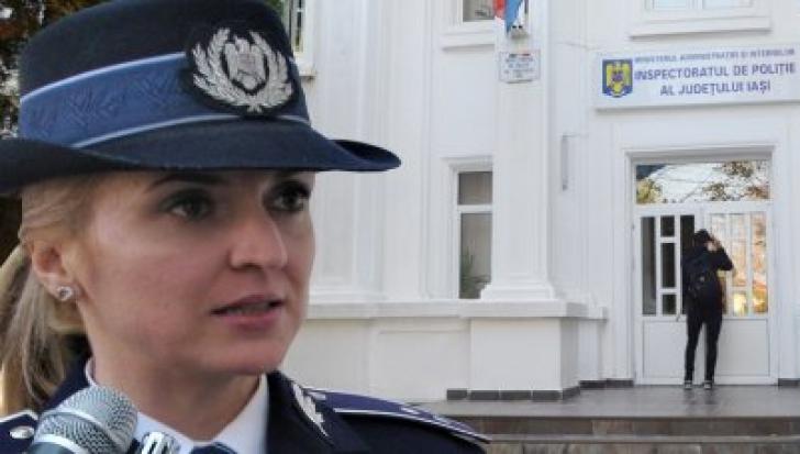 Una dintre cele mai frumoase polițiste din Iași, accident îngrozitor în sediul Poliției. E în comă