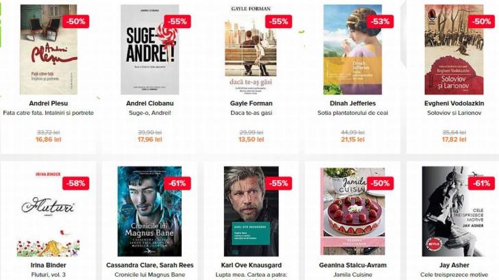 Oferte cărți Zilele Elefant.ro. Reduceri de până la 90% la numeroase titluri