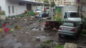 Rezervorul de apă al fabricii de conserve din Tecuci a cedat. 20 de maşini, o hală și anexe,avariate