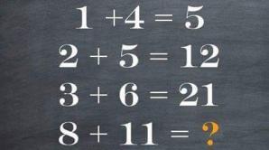 Problema de matematică care face furori pe internet. Cei mai mulţi nu îi dau de cap