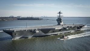 """Trump a inaugurat cel de-al 11-lea portavion american, """"un mesaj de 100.000 de tone către lume"""""""