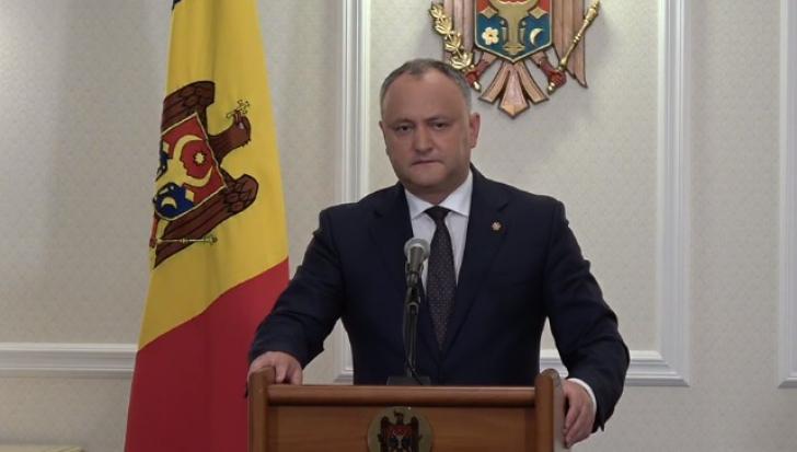 Dodon: Nu exclud existenţa unor planuri de destabilizare a R. Moldova la Centenarul Marii Uniri