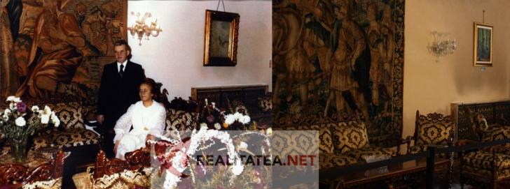 Interior Palatul Primaverii. Foto stanga: inainte de 1989. Foto dreapta: in prezent (Cristian Otopeanu)
