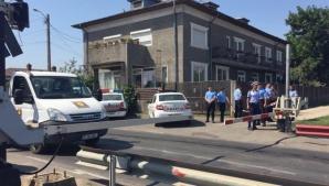 Accident grav lângă București. O mamă s-a aruncat în fața trenului cu cei trei copii. Toți au murit