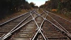 Apariţie neobişnuită pe o cale ferată