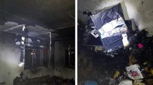 Incendiu din cauza unui laptop.
