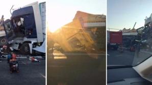 Accident cu 2 TIR-uri în Arad
