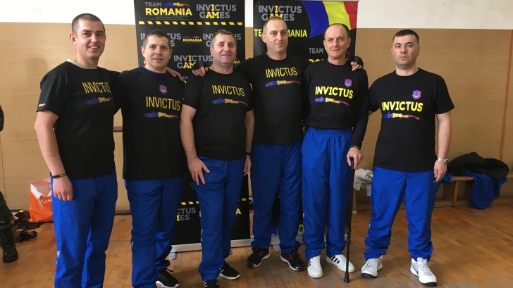 Militarii români din lotul Invictus.