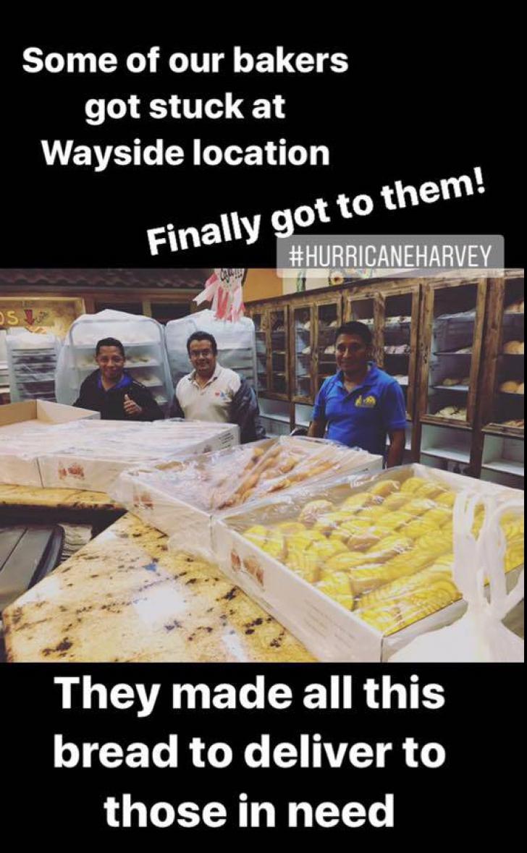 Gest EXTRAORDINAR al unor brutari blocaţi timp de 2 zile în brutărie de Uraganul Harvey