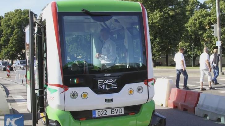 Autobuze fără şofer în Europa.