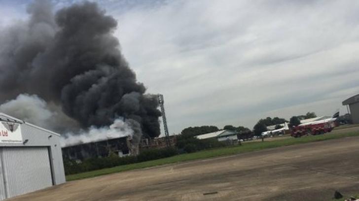 EXPLOZIE lângă Aeroportul Southend, din Marea Britanie