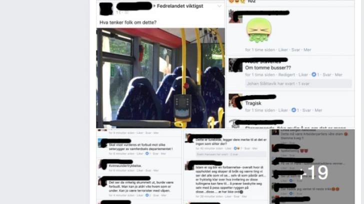 Fotografia care a stârnit hohote de râs: Musulmane confundate cu scaune