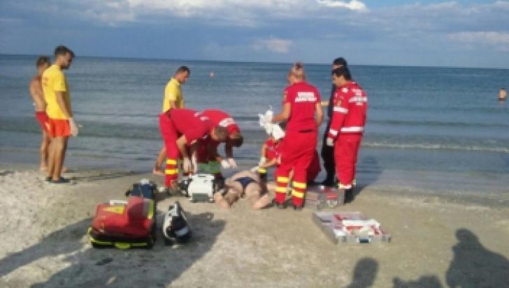 Intervenţie de urgență la Eforie Nord, după ce o persoană s-a înecat