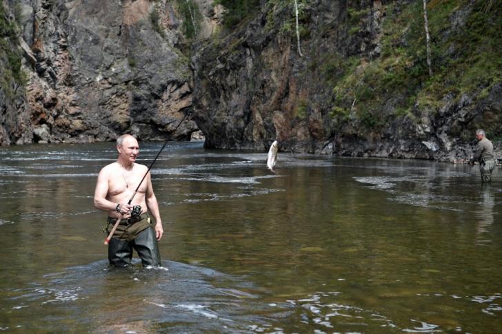 Vladimir Putin, în vacanță. Cum a fost surprins liderul de la Kremlin