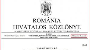 Cea mai scumpă publicație din lume! Monitorul Oficial al României în limba maghiară