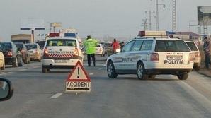 Accident grav pe Autostrada Soarelui. Circulaţia oprită, pe sensul spre litoral