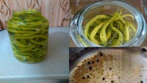 Aşa faci cei mai buni ardei uiţi bulgăreşti în oţet. Sunt delicioşi!