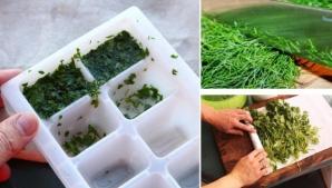 Cum se pun corect la congelator mărarul şi pătrunjelul
