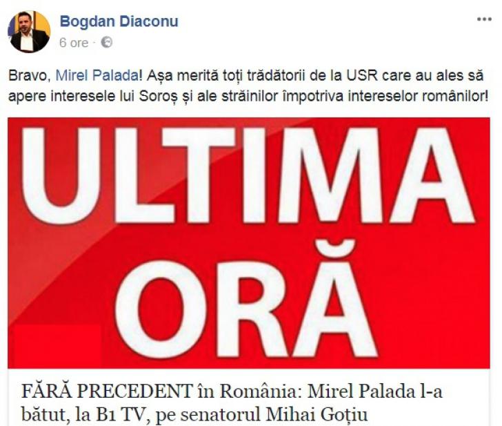 """Cele mai absurde reacţii din spaţiul public, după ce Goţiu a fost bătut: """"Bravo, Mirel! Aşa merită!"""""""