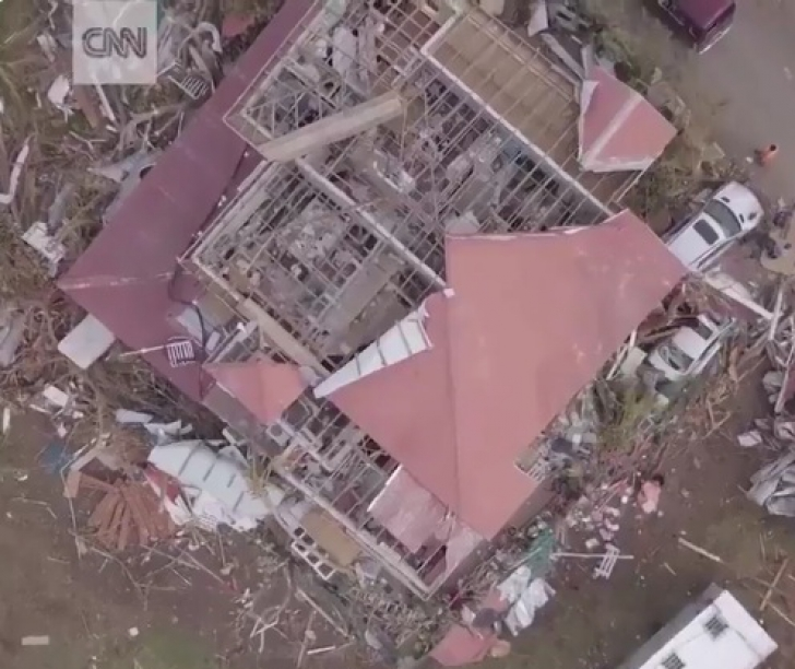 Insula devastată de uragan