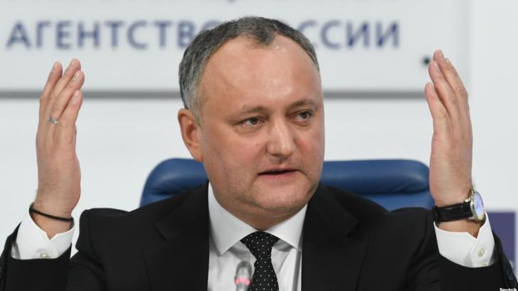 Preşedintele moldovean Igod Dodon