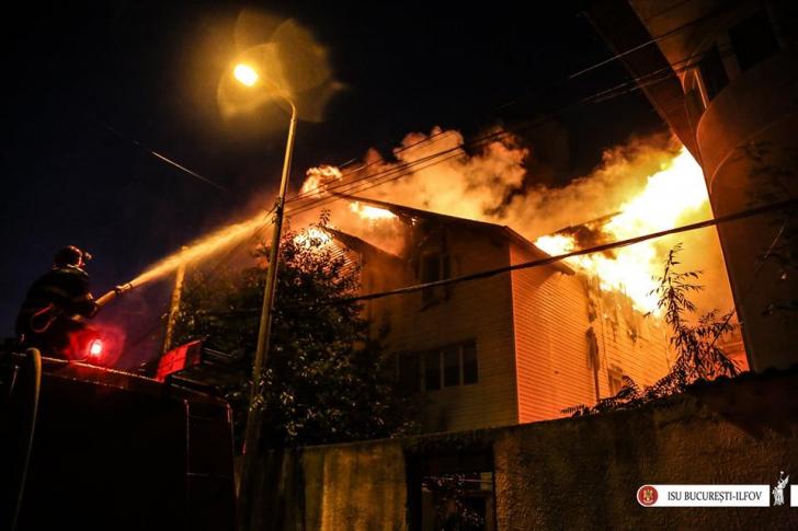 Incendiu azi de bătrâni Bucureşti