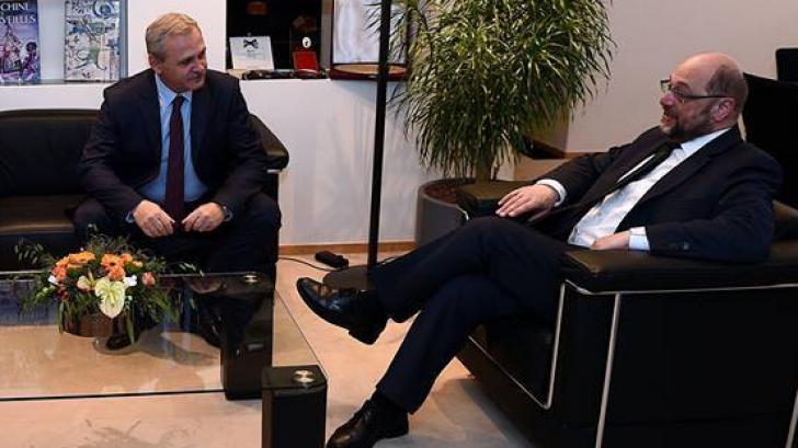 Dragnea, atacat de Martin Schulz. Fostul președinte al PE: Și eu aș fi protestat împotriva OUG 13
