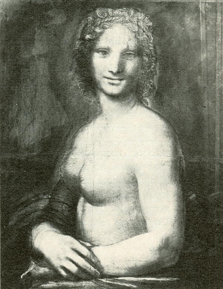 Descoperire UIMITOARE: o schiţă nud cu Mona Lisa îi aparţine lui Leonardo da Vinci