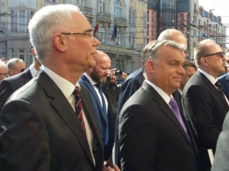 Viktor Orban, premierul Ungariei, în vizită de două zile la Cluj. A luat cuvântul şi Kelemen Hunor