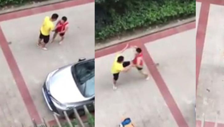 A vrut să bată un tip micuț în parcare, fără să știe că e luptător MMA. Ce a urmat - VIDEO