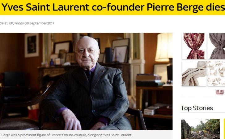 Pierre Berge, un creator de modă legendar